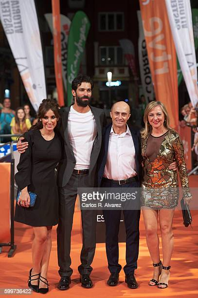 Actors Ana Morgade Ruben Cortada Pepe Viyuela and Pilar Castro attend 'Olmos y Robles' premiere at the Principal Theater during FesTVal 2016 Day 2...