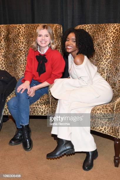 Actors Ana Mulvoy Ten and Lovie Simone attend the Selah And The Spades Premiere during the 2019 Sundance Film Festival at Egyptian Theatre on January...