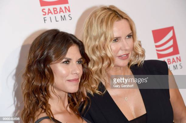 Actors Ana Ularu and Veronica Ferres attend the 'Siberia' New York premiere at The Metrograph on July 11 2018 in New York City