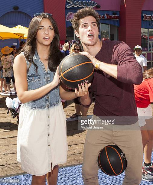 Actors Ana Villafane and Ben Winchell attend Mattel's 5th Annual Party On The Pier Hosted By Sarah Michelle Gellar at Santa Monica Pier on October 5...