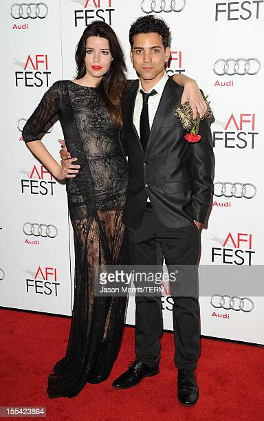Actors Anabela Moreira and Rafael Morais arrive at the 'Holy Motors' special screening during the 2012 AFI Fest at Grauman's Chinese Theatre on...
