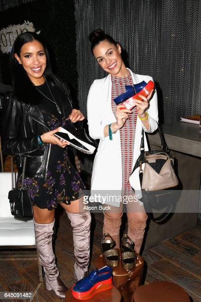Actors Anabelle Acosta and Julissa Bermudez attend Kari Feinstein's PreOscar Style Lounge at the Andaz Hotel on February 24 2017 in Los Angeles...