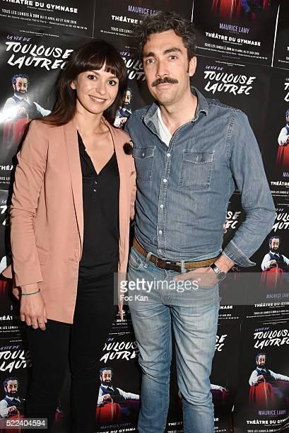 Actors Anais Tellenne and Amaury ChabautyÊattend 'La Vie de Toulouse Lautrec' Generale at Theatre du Gymnase on April 18 2016 in Paris France