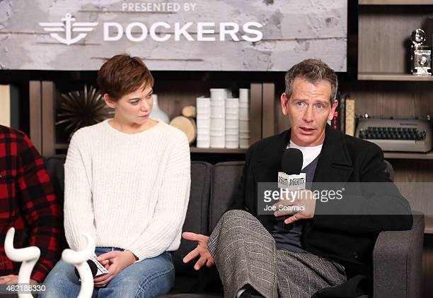 Actors Analeigh Tipton and Ben Mendelsohn speak at The Variety Studio At Sundance Presented By Dockers on January 25 2015 in Park City Utah