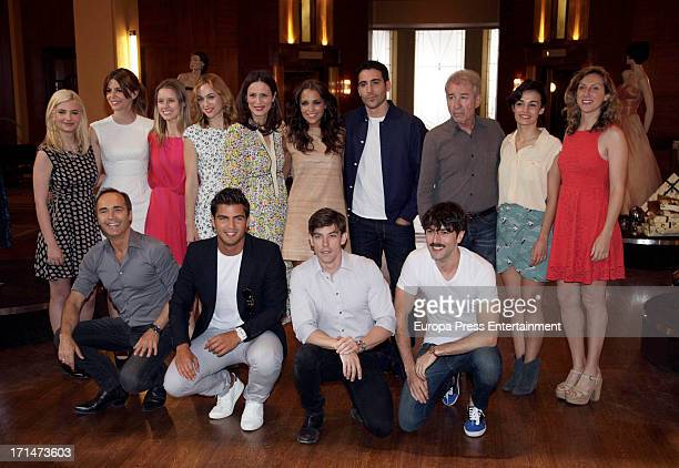Actors and actresss are seen on set filming 'Galerias Velvet' on June 24 2013 in Madrid Spain