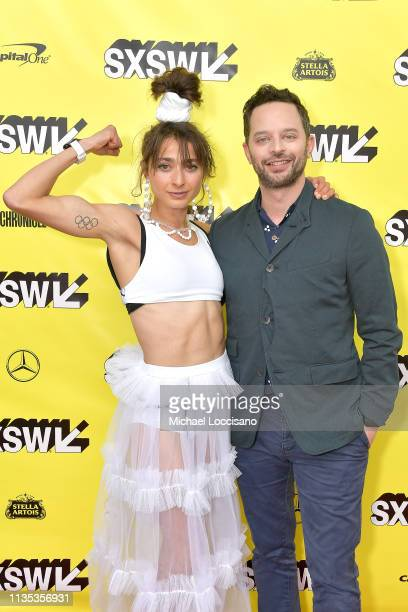 Actors and and cowriters Alexi Pappas Nick Kroll attend the 'Olympic Dreams' premiere during the 2019 SXSW Conference and Festivals at ZACH Theatre...
