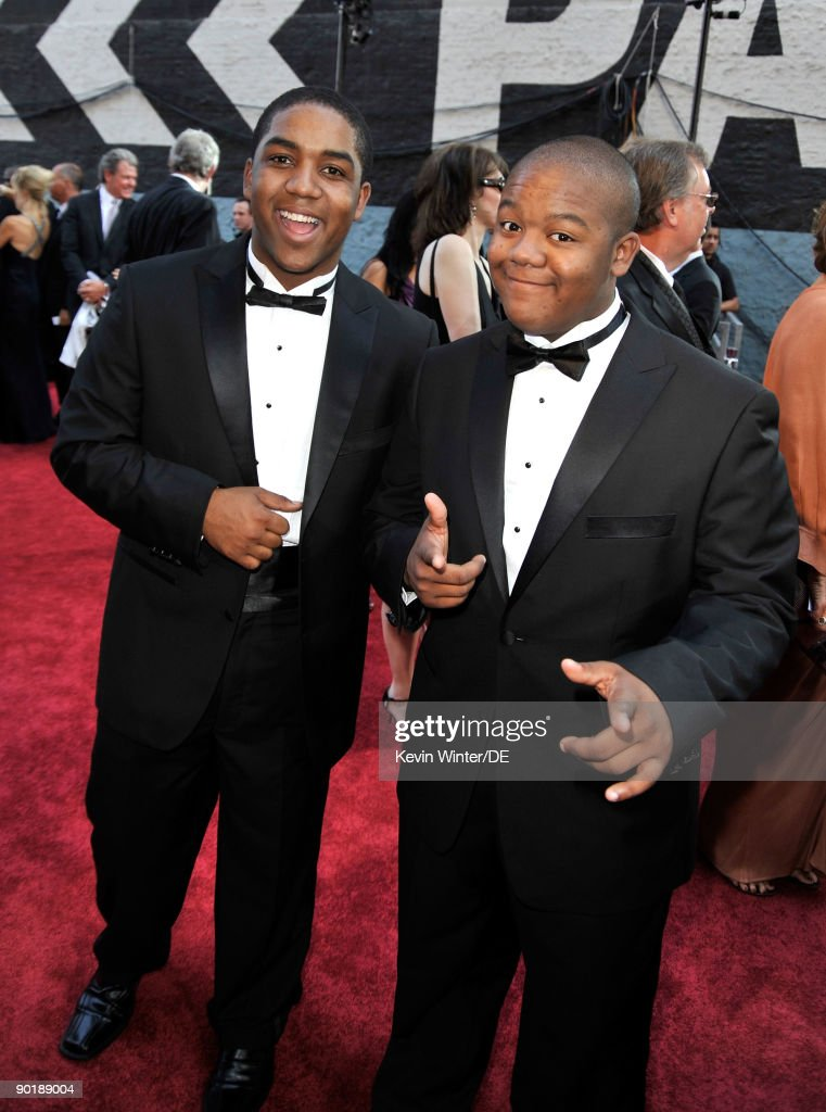 Actors and brothers Christopher Massey (L) and Kyle Massey arrive at the 36th Annual Daytime Emmy Awards at The Orpheum Theatre on August 30, 2009 in Los Angeles, California.