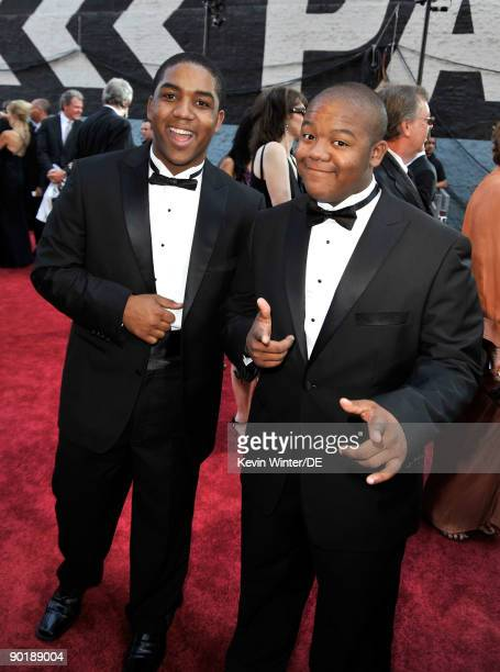 Actors and brothers Christopher Massey and Kyle Massey arrive at the 36th Annual Daytime Emmy Awards at The Orpheum Theatre on August 30 2009 in Los...