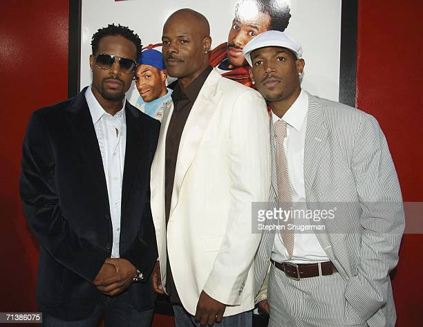 Actors and brothers Shawn Wayans Keenen Ivory Wayans and Marlon Wayans attend Sony Pictures premiere of Little Man at the Mann National Theater on...
