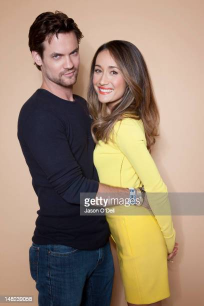 Actors and cast members of TV show Nikita Maggie Q Lyndsy Fonseca and Shane West are photographed for TV Guide Magazine on July 22 2011 in San Diego...