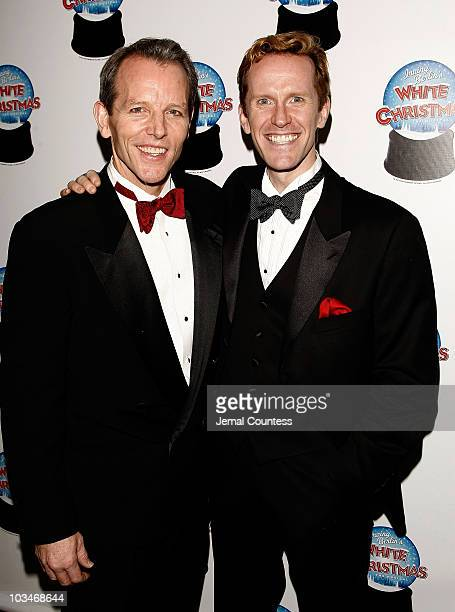 actors and cast members stephen bogardus and jeffry denman attend the opening night party for - Actors In White Christmas