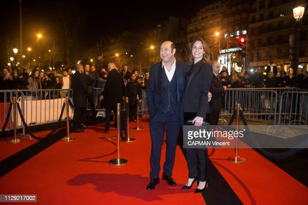 Actors and celebrities at the Fouquet's gala after the 44th Cesar Awards ceremony in Paris on February 22 2019 The actor Kad Merad and his fiancee...
