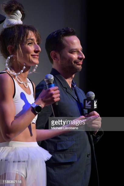 Actors and cowriters Alexi Pappas Nick Kroll take part in a QA following the 'Olympic Dreams' premiere during the 2019 SXSW Conference and Festivals...