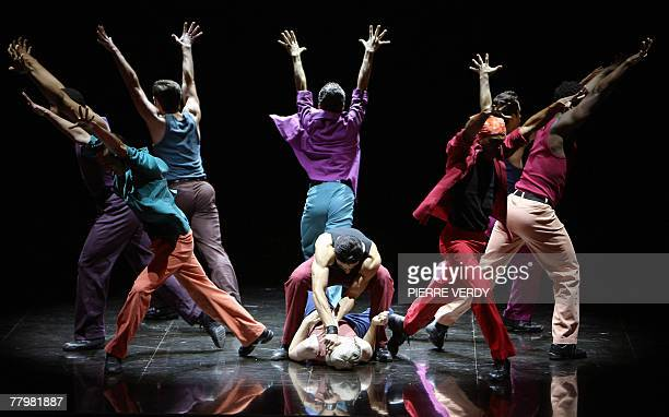 Actors and dancers perform in Leonard Bernstein's musical in two acts West Side Story 19 November 2007 at Paris' Chatelet Theatre A new cast and...