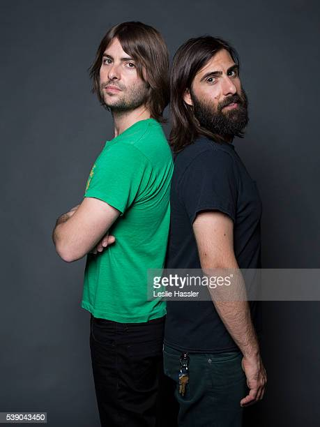 Actors and directors Jason and Robert Schwartzman are photographed for Glamourcom on April 16 2016 in New York City