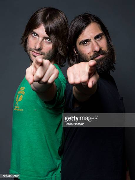 Actors and directors Jason and Robert Schwartzman are photographed for Glamourcom on April 16 2016 in New York City PUBLISHED IMAGE