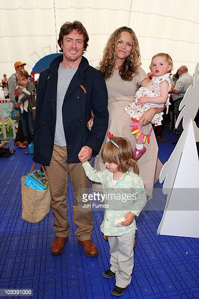 Actors and husband and wife Toby Stephens and AnnaLouise Plowman and their children Eli and Tallulah attend 'In The Night Garden Live' in the...