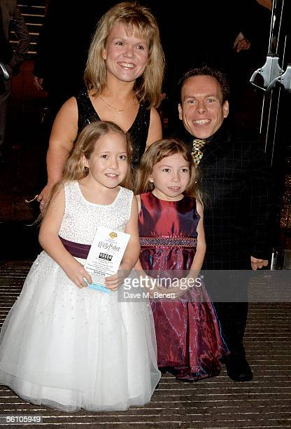 Actors and husband and wife Warwick and Samantha Davis and their daughters arrive at the World Premiere of Harry Potter And The Goblet Of Fire at the...
