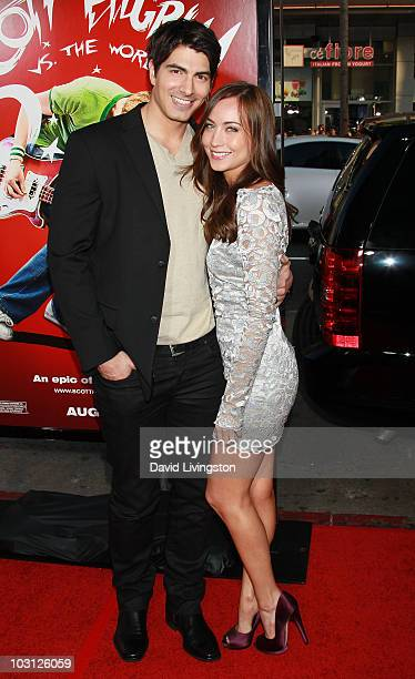 Actors and husband wife Brandon Routh and Courtney Ford attend the premiere of Universal Pictures' Scott Pilgrim vs the World at Grauman's Chinese...