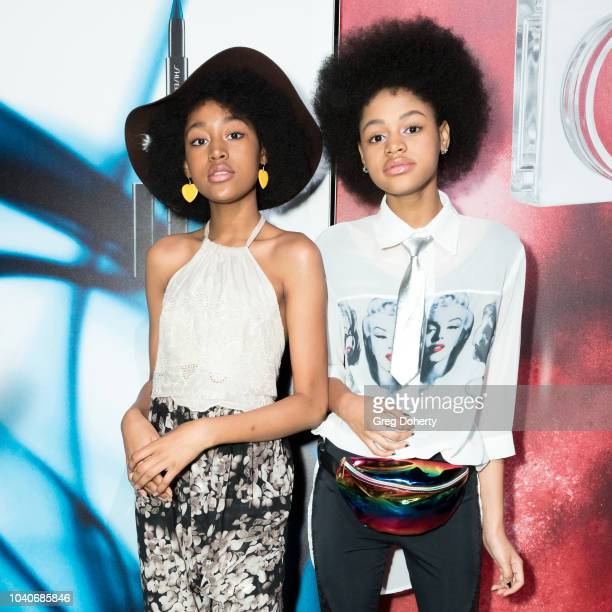 Actors and Models Jenasha Briana Roy attend the Shiseido Makeup Launch Party at Quixote Studios on September 25 2018 in Los Angeles California