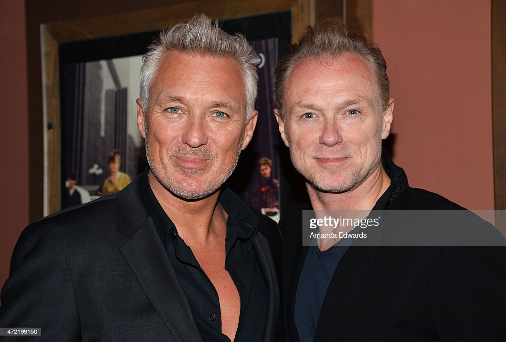 Actors and musicians Martin Kemp (L) and Gary Kemp attend the premiere of 'Soul Boys Of The Western World: Spandau Ballet' at the Sundance Cinema on May 4, 2015 in Los Angeles, California.