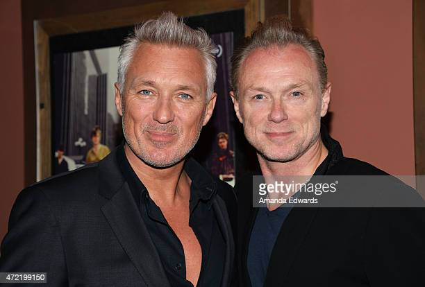 Actors and musicians Martin Kemp and Gary Kemp attend the premiere of 'Soul Boys Of The Western World Spandau Ballet' at the Sundance Cinema on May 4...