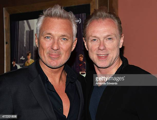 Actors and musicians Martin Kemp and Gary Kemp attend the premiere of Soul Boys Of The Western World Spandau Ballet at the Sundance Cinema on May 4...