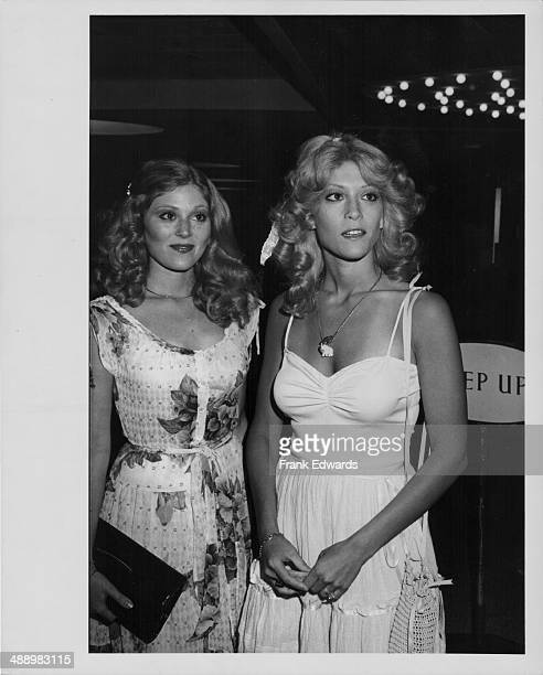 Actors and siblings Audrey and Judy Landers attending a party at the Century Plaza Hotel Los Angeles July 1978