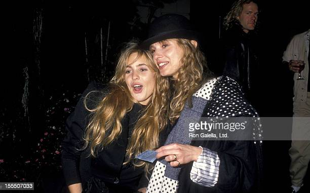 Actors and sisters Olivia d'Abo and Maryam d'Abo attend Sandy Gallin's Holiday Party on December 18 1988 at the Home of Sandy Gallin in Beverly Hills...