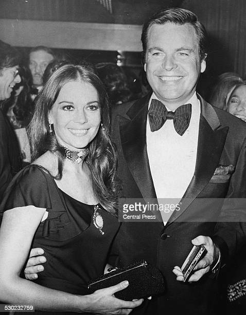 Actors and spouses Natalie Wood and Robert Wagner arriving at the premiere of the film 'The Godfather' London August 24th 1972