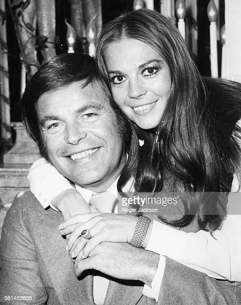 Actors and spouses Natalie Wood and Robert Wagner following their reconciliation Britain April 24th 1972