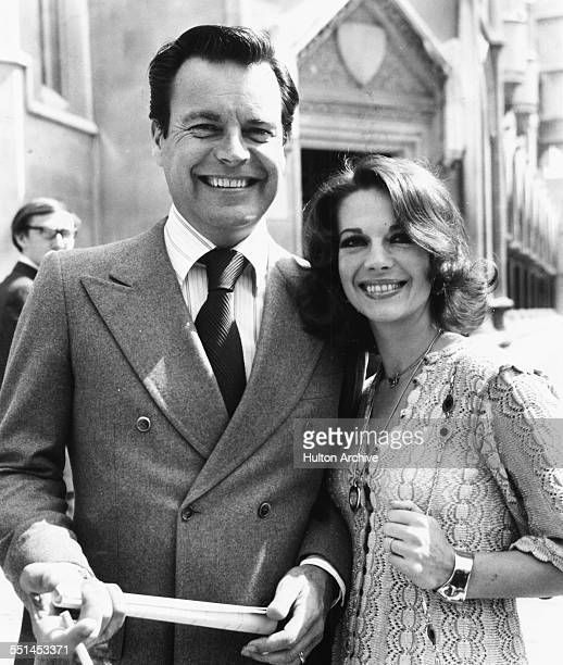 Actors and spouses Natalie Wood and Robert Wagner in London July 1st 1976