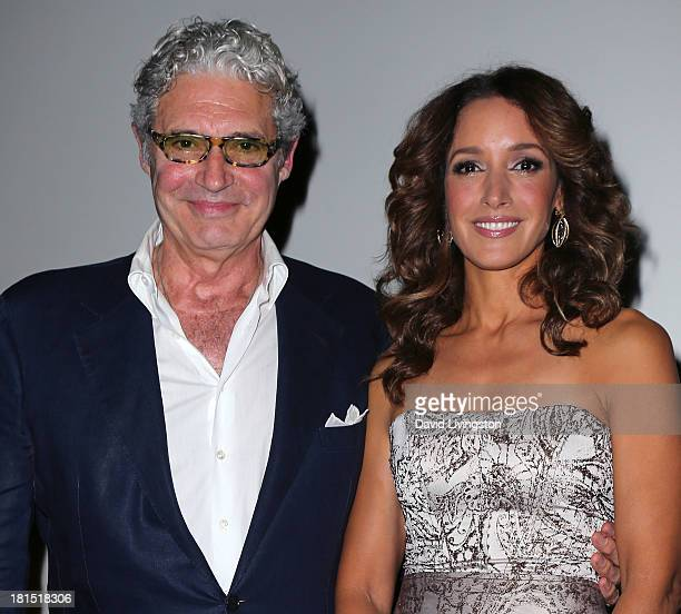 Actors and stars of the film Michael Nouri and Jennifer Beals attend a Flashdance 30th anniversary screening at the Aero Theatre on September 21 2013...