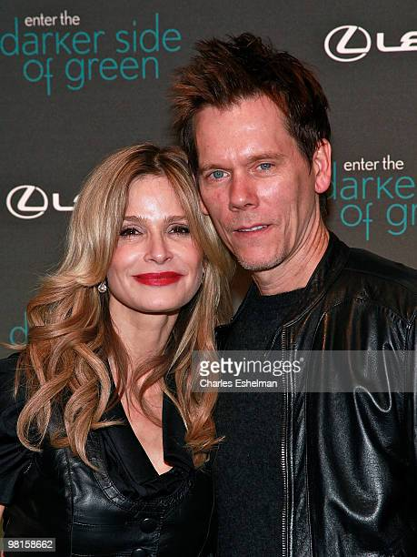 Actors and wife and husband Kyra Sedgwick and Kevin Bacon attend the Darker Side of Green Climate Change Debate at Skylight West on March 30 2010 in...