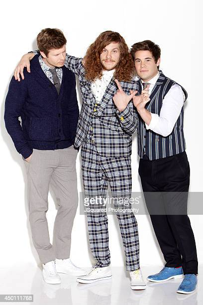 Actors Anders Holm Blake Anderson Adam DeVine are photographed for Bello on January 10 2014 in Los Angeles California PUBLISHED IMAGE
