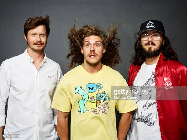 Actors Anders Holm Blake Anderson and Kyle Newacheck from 'Workaholics' are photographed for Entertainment Weekly Magazine on July 23 2016 at Comic...