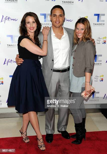"""Actors Andie MacDowell, Daniel Sunjata and Ashley Williams attend the screening of the Lifetime Original Movie """"Patricia Cornwell's The Front"""" at..."""