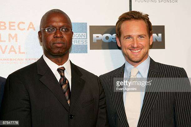 """Actors Andre Braugher and Josh Lucas attend the """"Poseidon"""" premiere at the Tribeca Performing Arts Center May 6, 2006 in New York City."""