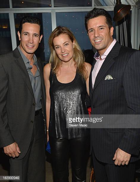 Actors Andre Da Silva Nancy Chambers and Richard Cerqueira attend Dianne Burnett's Road To Reality Book Launch Party at The Kimberly Hotel on...
