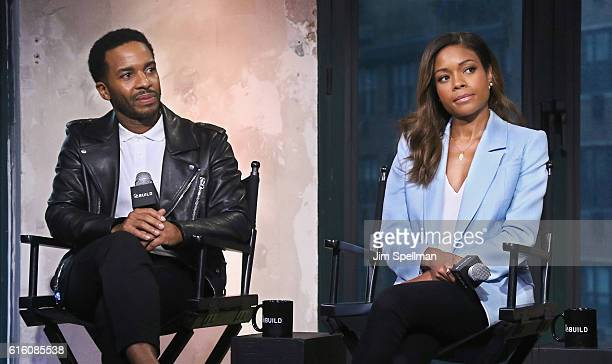 Actors Andre Holland and Naomie Harris of 'Moonlight' attend The Build Series at AOL HQ on October 21 2016 in New York City
