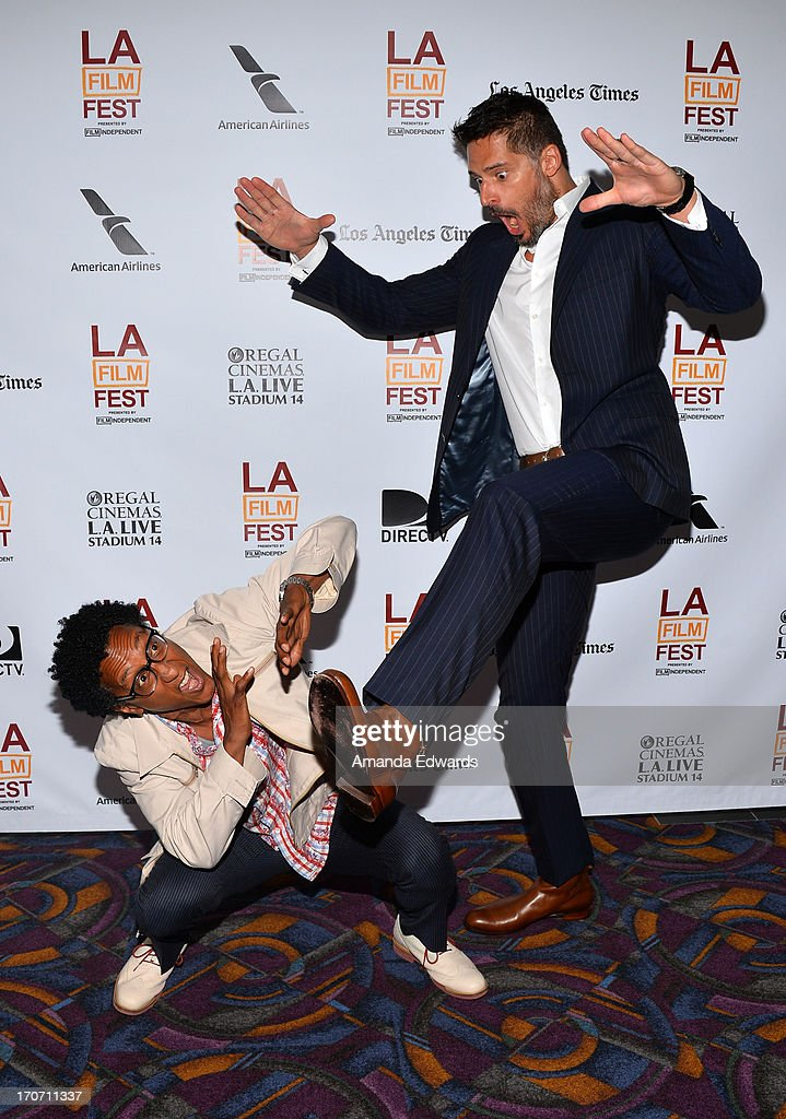 Actors Andre Royo (L) and Joe Manganiello attend Coffee Talk - Actors during the 2013 Los Angeles Film Festival at DIRECTV Theater on June 16, 2013 in Los Angeles, California.