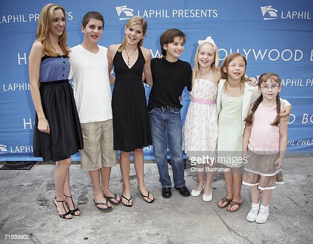 Actors Andrea Bowen Ben Platt Mary Catherine Hughes Andrew Hoeft Justine Dorsey Emma Ashford and Anza Seller attend The Sound of Music photo call at...