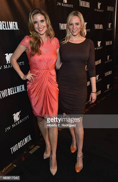 Actors Andrea Feczko and Michelle Ehrman attend the premiere of 'Two Bellmen' at The JW Marriott Los Angeles at LA LIVE on March 10 2015 in Los...