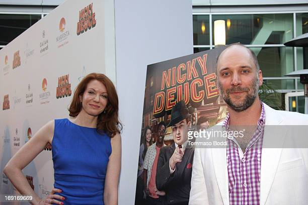 Actors Andrea Frankle and Carlo Mestroni attend the 'Nicky Deuce' Los Angeles premiere held at ArcLight Hollywood on May 20 2013 in Hollywood...