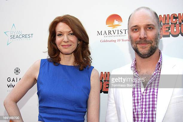 Actors Andrea Frankle and Carlo Mestroni attend the Nicky Deuce Los Angeles premiere held at ArcLight Hollywood on May 20 2013 in Hollywood California