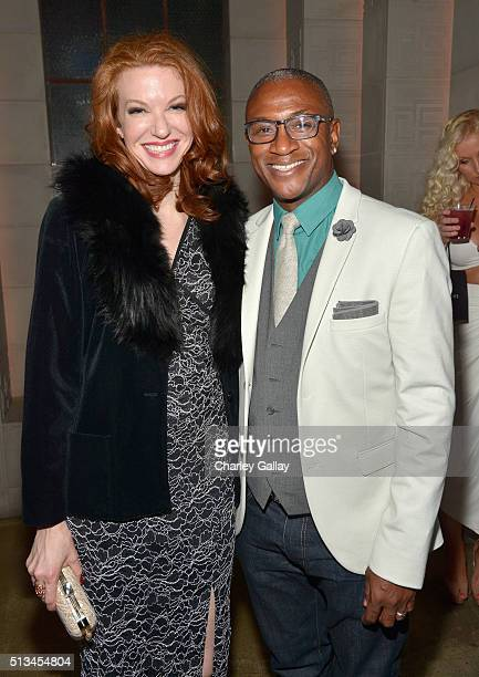 Actors Andrea Frankle and Tommy Davidson attend WGN America's Underground World Premiere on March 2 2016 in Los Angeles California