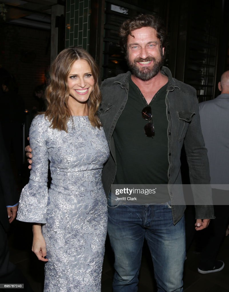 Actors Andrea Savage and Gerard Butler attend the premiere of truTV's 'I'm Sorry' n June 13, 2017 in West Hollywood, California.