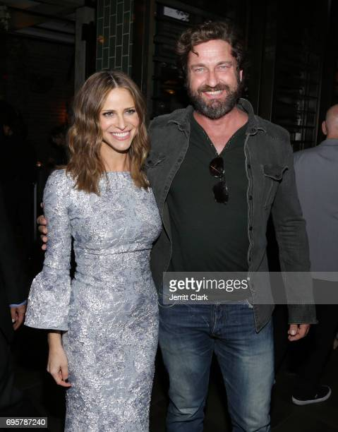 Actors Andrea Savage and Gerard Butler attend the premiere of truTV's 'I'm Sorry' n June 13 2017 in West Hollywood California