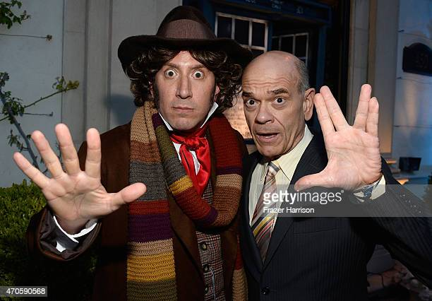 Actors Andrew Elkins and Robert Picardo arrive at the 9th Annual BritWeek launch party at the British Consul General's Residence on April 21 2015 in...