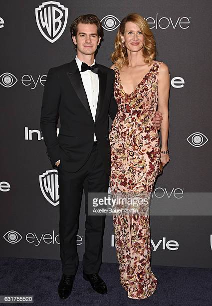 Actors Andrew Garfield and Laura Dern arrive at the 18th Annual PostGolden Globes Party hosted by Warner Bros Pictures and InStyle at The Beverly...